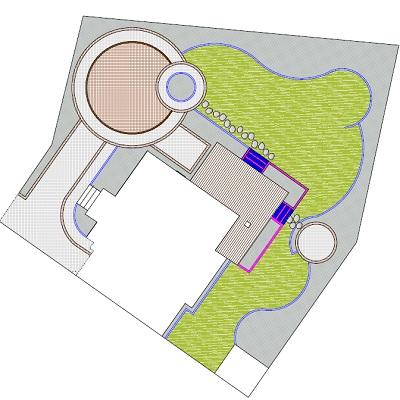 schemat projekt systemu nawadniania ogrodu,